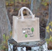 "Jute bag ""Tree and lamb"" small"