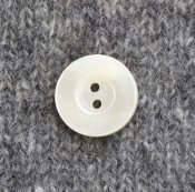 Button 'Seashell' - off white 20 mm