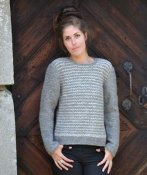 1551 Sweater 2-colour in Tunisian crochet