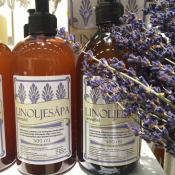 Linseed liquid oil soap, Lavender