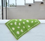 Blanket 'Leaves' Mini 65x90 cm (Green/White)