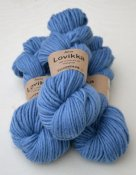 Lovikka-4151 Blue Sky on white wool
