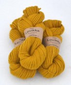 Lovikka-2131 Lion yellow on white wool
