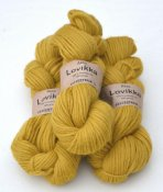 Lovikka-2141 Soft Lion Yellow on white wool