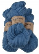 Lovikka-4141 Nordic Blue on white wool