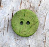 Coconut button Green  18 mm