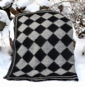 "Blanket ""Persnäs"" 180x130 cm, (Black/Grey)"