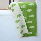 Blanket 'Roses' Medium 90x130 cm (Green/White)