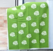 Blanket 'Roses' 180x130 cm (Green/White)