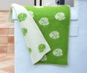 Blanket 'Roses' Mini 65x90 cm (Green/White)