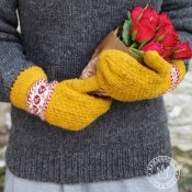 "Mittens ""Roses are red, violets are blue"" - yarn kit"
