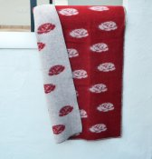 Blanket 'Roses' Medium 90x130 cm (Red/Light grey)