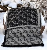 "Blanket ""Sandby"" black/grey"