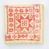 "Napkin ""Embroidery"" red small"