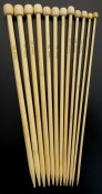 Knitting needles, bamboo 30 cm