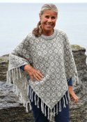 Poncho with star pattern