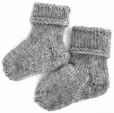 sticka sockor mönster gratis barn