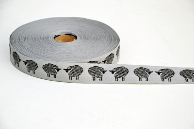 "1371-1 Ribbon ""Sheep"" 25 mm"