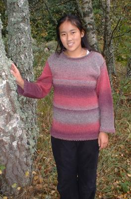 1503 Sweater with rolled edges