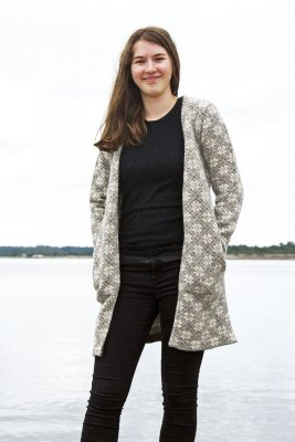 3181 - Long cardigan with star pattern
