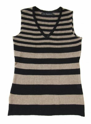 5084 - Top with stripes and V-neck