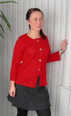 7131 - Cardigan with large button band