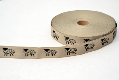 "1377-7 Ribbon ""Sheep"" 25 mm"
