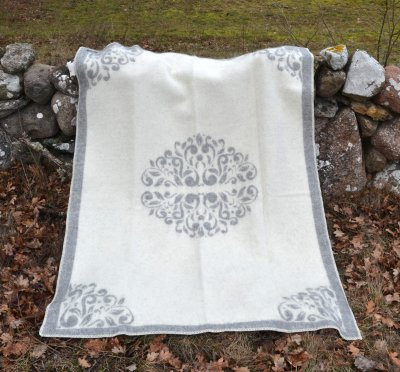 "Blanket ""Kurbitz"" (Grey/White) 180x130 cm"