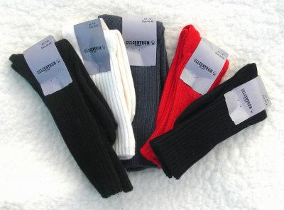 Sock ribbed thick size 35-48