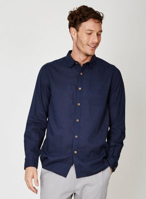 Hemp shirt navy