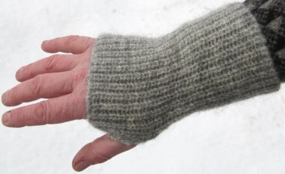 Wristwarmer with thumbhole