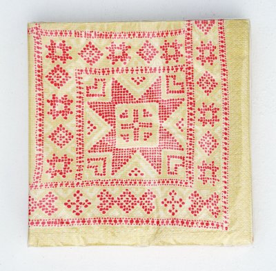 "Napkin ""Embroidery"" red big"