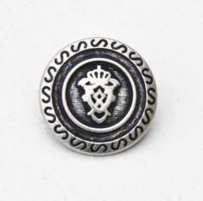 Metal button with shank 20 mm