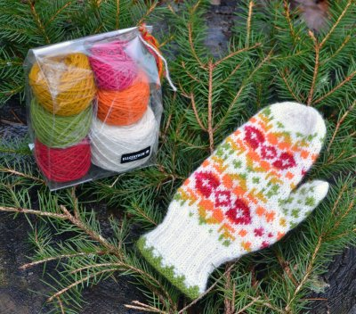 "Mittens ""Rosa"" - yarn kit"