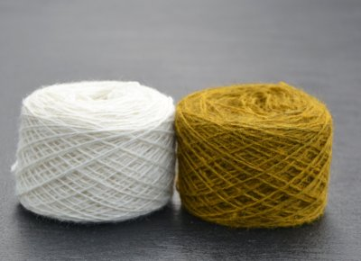 Thin yarn white lion yellow